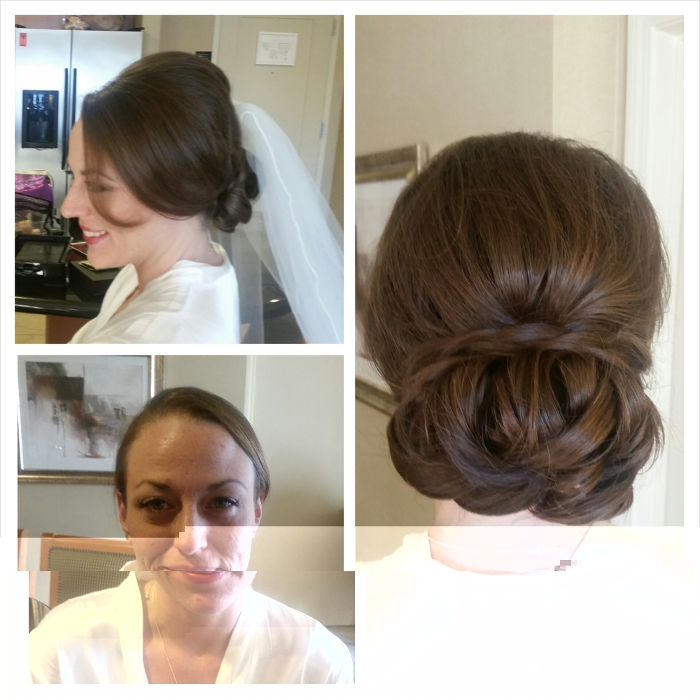 This style combines a loose look at the front, a smooth look to the bun and a braid for an accent., Hair texture needed: Medium to Thick Hair length needed: Medium